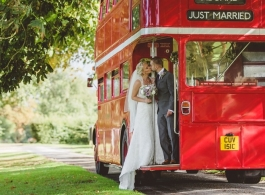 Routemaster bus wedding hire in Lowestoft